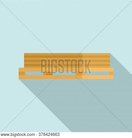 Wood Planks Pallet Icon. Flat Illustration Of Wood Planks Pallet Vector Icon For Web Design