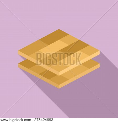 Wood Floor Tiles Icon. Flat Illustration Of Wood Floor Tiles Vector Icon For Web Design