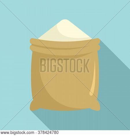 Construction Powder Sack Icon. Flat Illustration Of Construction Powder Sack Vector Icon For Web Des