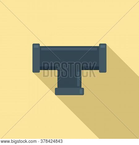 Sewage Pipe Icon. Flat Illustration Of Sewage Pipe Vector Icon For Web Design