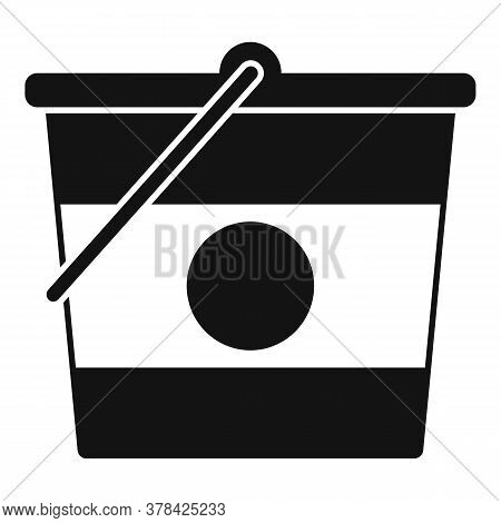 Construction Bucket Icon. Simple Illustration Of Construction Bucket Vector Icon For Web Design Isol