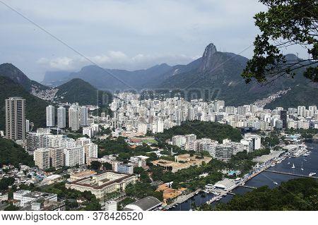 Rio De Janeiro; Brazil - February, 12, 2019: City View Of Rio De Janeiro From Sugarloaf Mountain. Co