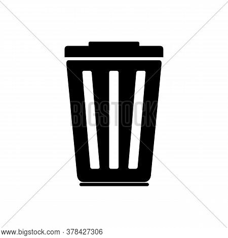 Trash Can Icon Isolated On White Back. Trash Can Simple Sign. Trash Can Vector Design Illustration.