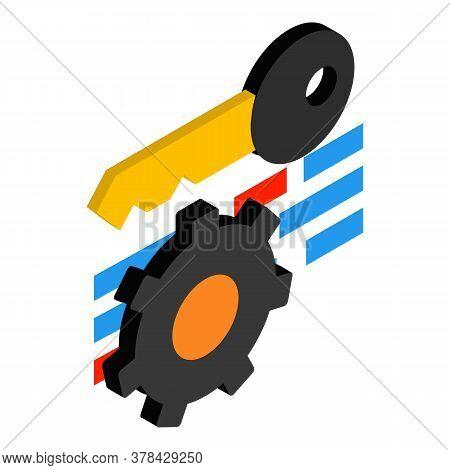 Seo Keywording Icon. Isometric Illustration Of Seo Keywording Vector Icon For Web