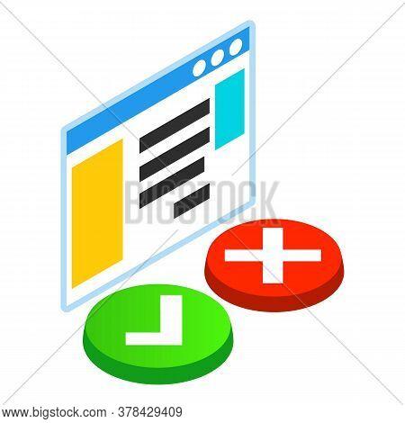 Web Landing Icon. Isometric Illustration Of Web Landing Vector Icon For Web