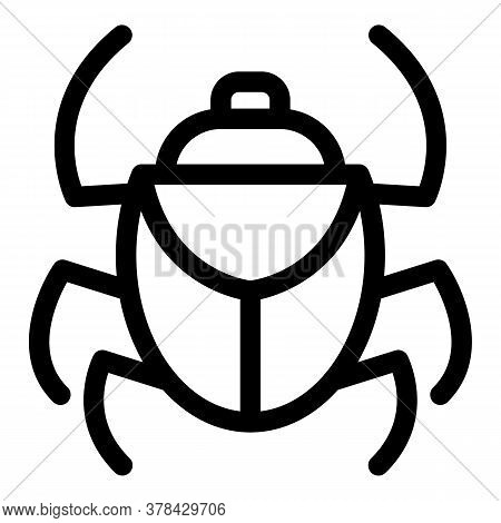 Forest Scarab Beetle Icon. Outline Forest Scarab Beetle Vector Icon For Web Design Isolated On White