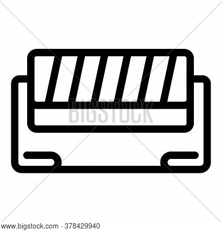 Textile Production Icon. Outline Textile Production Vector Icon For Web Design Isolated On White Bac