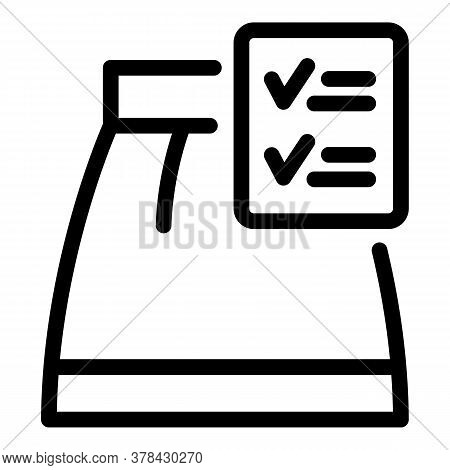 Good Production Skirt Icon. Outline Good Production Skirt Vector Icon For Web Design Isolated On Whi