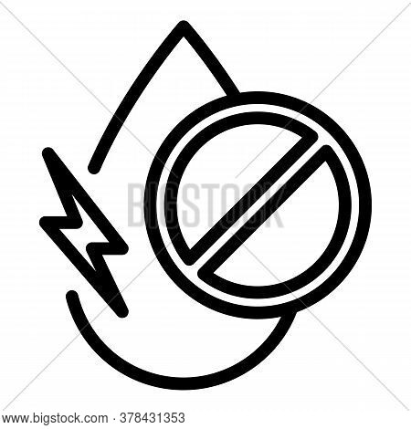 Digestion Drop Liquid Icon. Outline Digestion Drop Liquid Vector Icon For Web Design Isolated On Whi