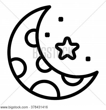 Night Time Digestion Icon. Outline Night Time Digestion Vector Icon For Web Design Isolated On White