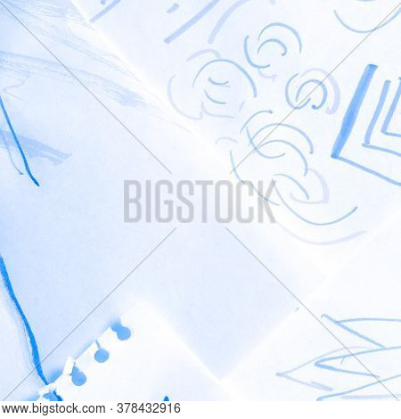 Ice Batik Textile. Nautical Indigo Motif. Oriental Marine Cold Motif. Weather Sea Artistic Patchwork