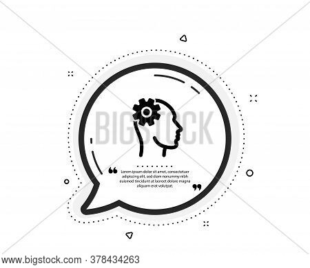 Engineering Icon. Quote Speech Bubble. Cogwheel Tool Sign. Man Think Symbol. Quotation Marks. Classi