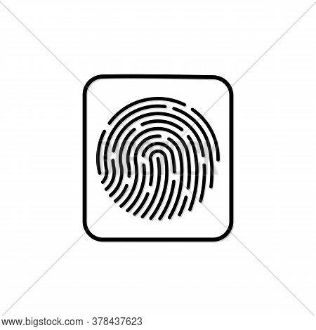 Fingerprint Scan Vector Icon, Flat Icon Design Finggerprint Line