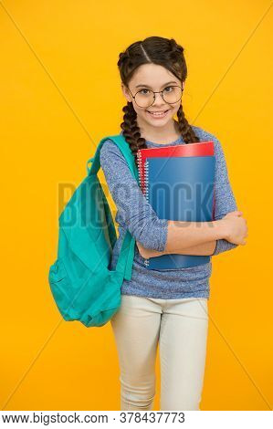 Back To School Sale. Happy Girl Back To School. Small Child Hold Bags And Books. September 1. Back T