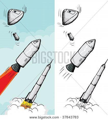 Etapas del cohete tripulado