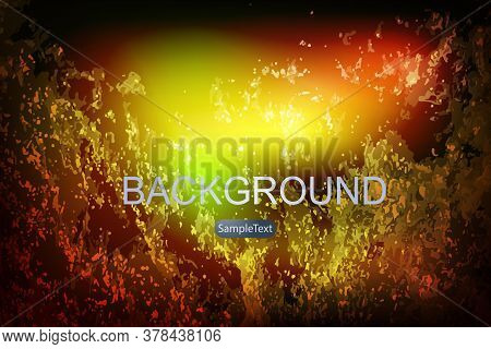 Abstract Textured Dark Multicolor Background, Chaotically Drawn Shapeless Forms, Multicolored Ripple