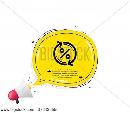 Loan Percent Update Icon. Quote Speech Bubble. Discount Sign. Credit Percentage Rate Symbol. Quotati