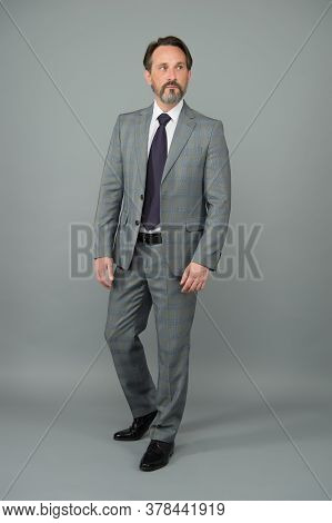 Formal Is Forever. Senior Manager In Formal Style. Bearded Man Wear Formal Suit. White Collar. Forma