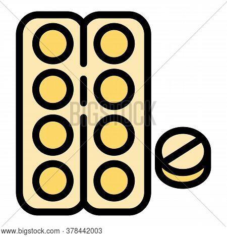 Flu Blister Icon. Outline Flu Blister Vector Icon For Web Design Isolated On White Background