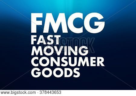 Fmcg - Fast Moving Consumer Goods Acronym, Business Concept Background