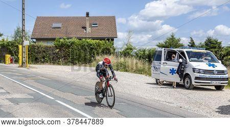 Bourgoin-jallieu, France - 07, May, 2017: The Italian Cyclist Matteo Bono Of Uae Team Emirates Ridin