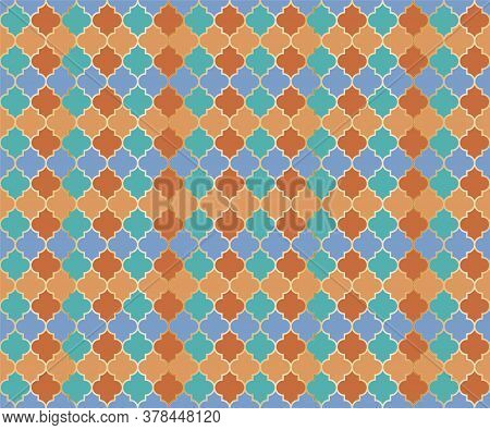 Middle East Mosque Vector Seamless Pattern. Ramadan Mubarak Muslim Background. Traditional Ramadan M
