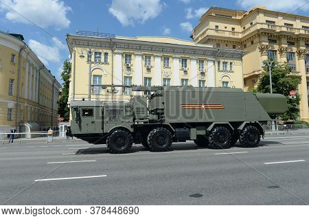 Moscow, Russia - June 24, 2020:self-propelled Command Post Of Control And Communications Of The Coas