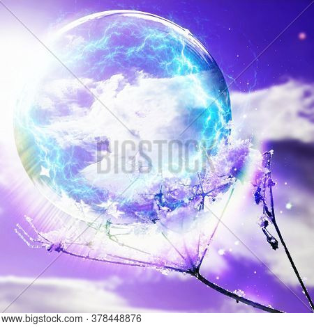 Angelic Energy Sphere Photographed In Bloemfontein, South Africa