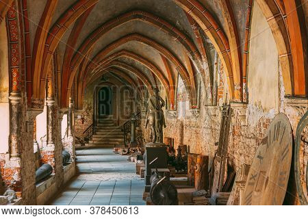 Riga, Latvia - July 2, 2016: Cross Gallery In Dome Cathedral Museum.
