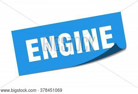 Engine Sticker. Engine Square Sign. Engine. Peeler