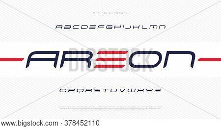 Modern Futuristic Minimal Font. Modern Italic Typeface. English Alphabet. Set Of Letters. Font Set F