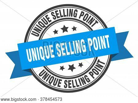 Unique Selling Point Label. Unique Selling Pointround Band Sign. Unique Selling Point Stamp