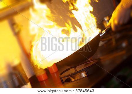 Chef Is Making Flambe