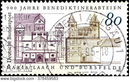02 09 2020 Divnoe Stavropol Territory Russia The Postage Stamp Germany 1993 The 900th Anniversary Of