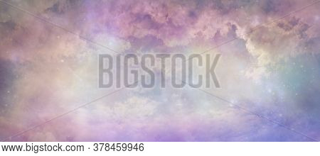 Heavens Above Celestial Concept Background Banner - Beautiful Blue Pink Purple Green Lilac Light Fil
