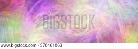 Swirling Free Flowing Feminine  Pink And Yellow Energy Background Banner - Large  Vibrant Swirls Of