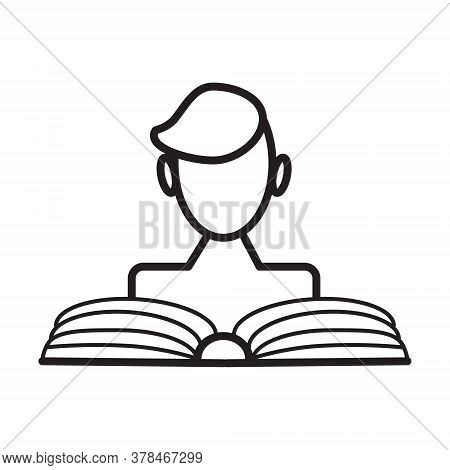 Reading Book Icon Vector. Blog, Blogging Sign. Universal Writer, Copy Writing Icon To Use In Web And