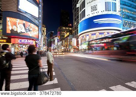 Times Square, New York City, Ny, United States - May 09, 2011: View Of Times Square At 42 Street And