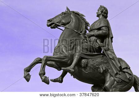 Statue Peter The Great In Petersburg