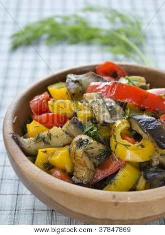 Stewed Eggplant And Bell Pepper