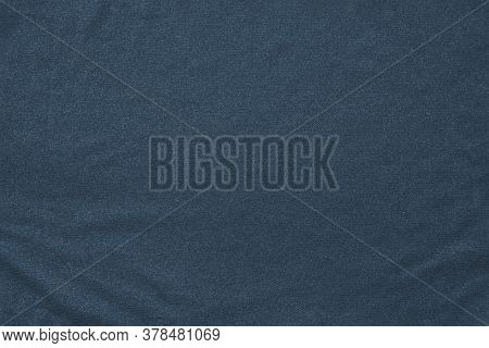 Blue Fabric Texture With Wrinkles For Backdrop