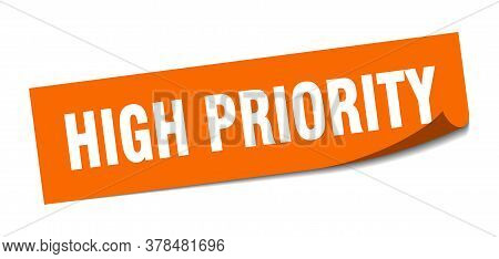 High Priority Sticker. High Priority Square Sign. High Priority. Peeler