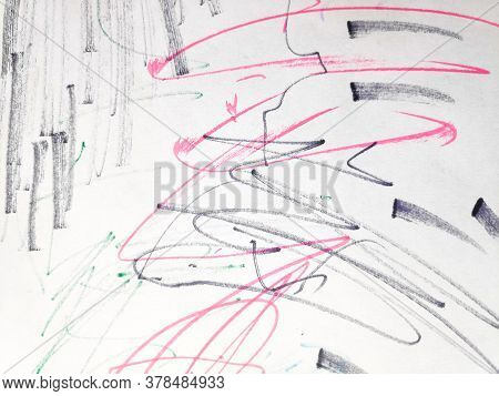 Distress Line Pattern. Stripes Marker Rough Wallpaper. Background Distress Line Pattern. Geometric C