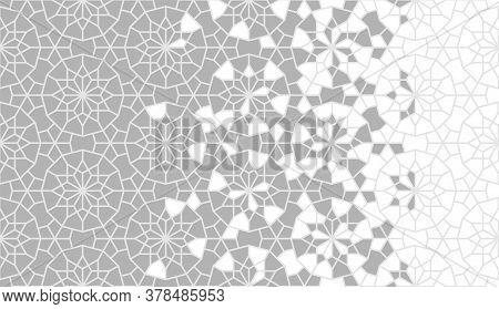 Arabesque Vector Border, Wallpaper, Texture, Background, Pattern. Geometric Arabesque Halftone Textu