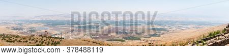 Panoramic View To The Jordan Valley From The Ruins Of The Great Hospitaller Fortress - Belvoir - Jor