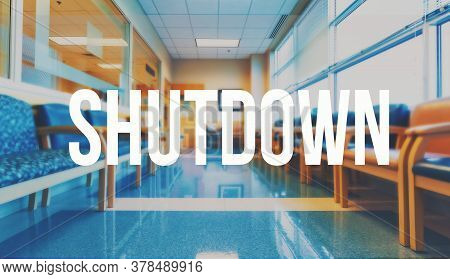 Shutdown Coronavirus Theme With A Medical Office Reception Waiting Room Background