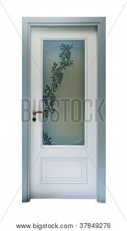Door With Floral Decoration