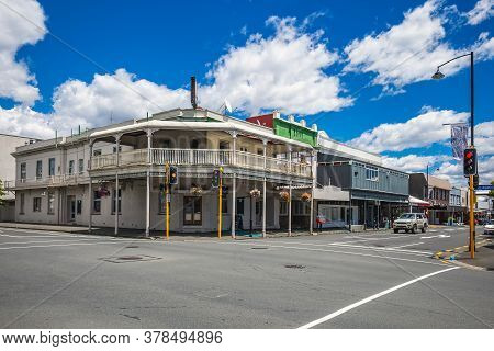 City Centre With A Historic Heritage Building At Nelson, New Zealand.