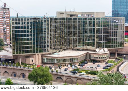 Belgrade, Serbia - June 23, 2019: American Hyatt Regency Hotel In Belgrade, Serbia.