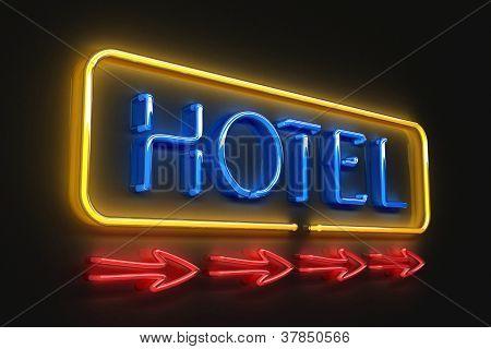 Neon hotelsign